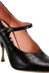 Rochas Embossed Mary Jane Pump - Lyst