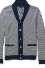 Slowear Zanone Striped Shawlcollar Cotton Cardigan - Lyst