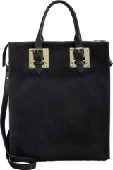 Sophie Hulme Calf Hair Zip Top Buckle Tote - Lyst