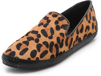 Steven Cluch Haircalf Flat Loafers - Lyst