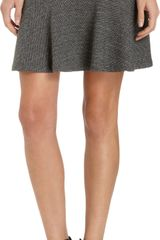 Theory Gida K Flared Double Knit Mini Skirt - Lyst