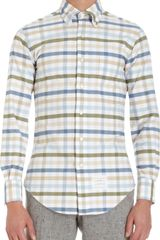 Thom Browne Checked Shirt With Button Down Collar - Lyst