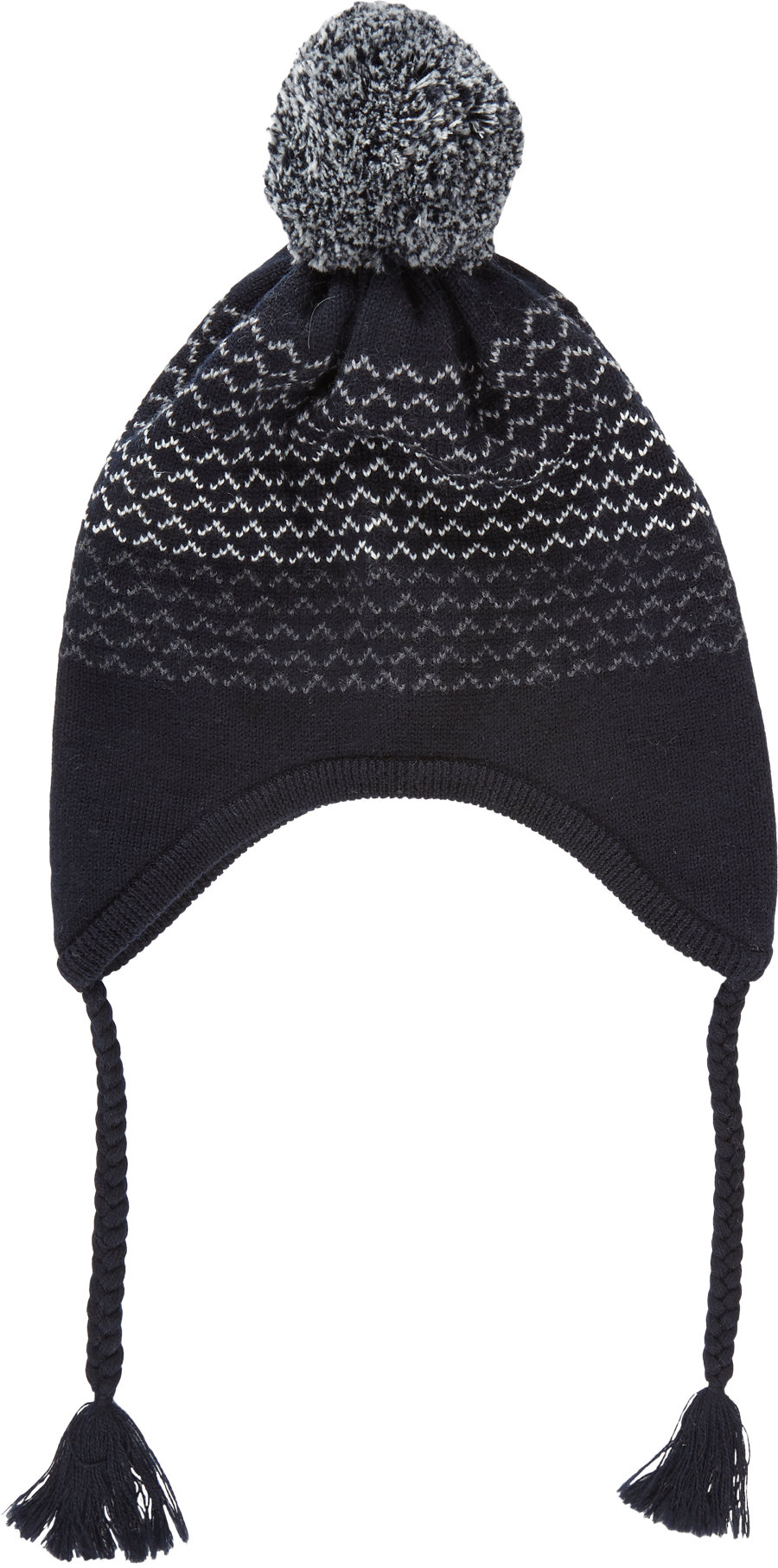 Thom Grey Knit Ear Flap Hat in Blue for Men - Lyst f2ec3955713