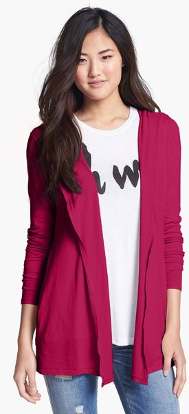 Three Dots Hooded Cardigan - Lyst
