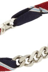 Vanities Regimental Stripe Bracelet with Curb Chain - Lyst