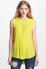 Vince Camuto Center Pleat Blouse - Lyst