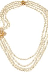 Vintage Nailhead Pearl Long Multistrand Necklace - Lyst