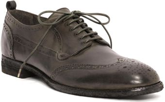 Alexander McQueen Washed Brogue Lace Up - Lyst