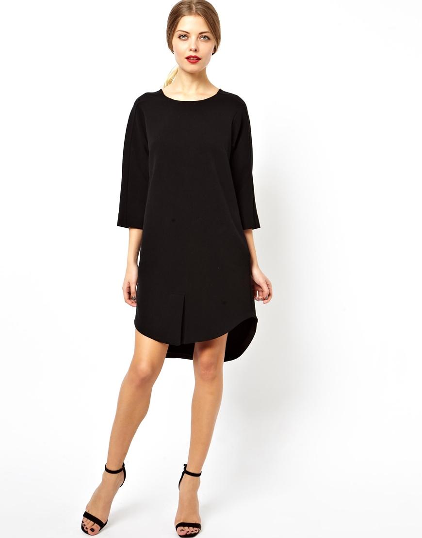 Lyst Asos Clean Shift Dress In Black
