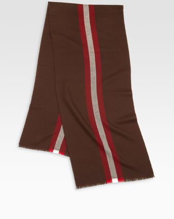 Bally Striped Wool Scarf - Lyst
