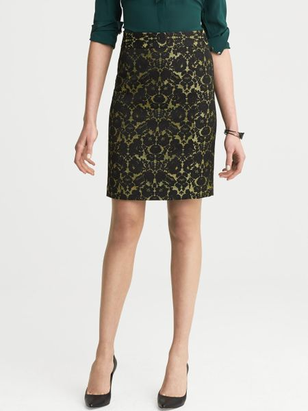 banana republic lwren collection lace brocade pencil