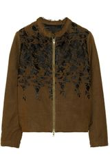 By Walid Embroidered Silk Bomber Jacket - Lyst