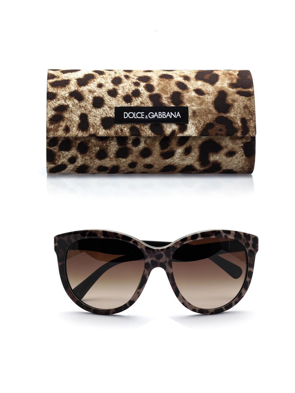 34bb360d60c5 Dolce & Gabbana Leopardprint Sunglasses - Lyst