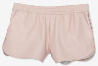 Elizabeth And James Leather Shorts Powder Pink - Lyst