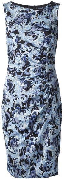 Emilio Pucci Paisley Side Ruched Dress - Lyst