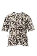 Equipment Logan Leopard Print Silk Blouse - Lyst