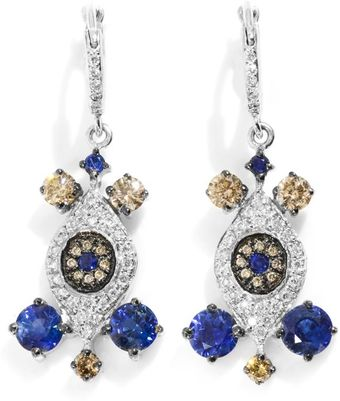 Ileana Makri Diamond Sapphire White Gold Drop Earrings - Lyst