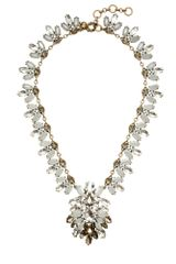 J.Crew Crystal Brooch Necklace - Lyst