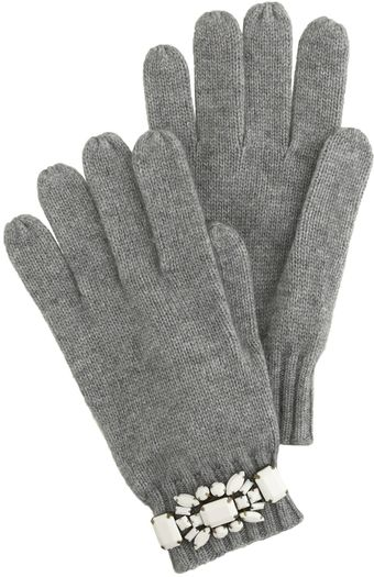 J.Crew Jeweled Gloves - Lyst