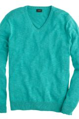 J.Crew Cotton Vneck Sweater - Lyst