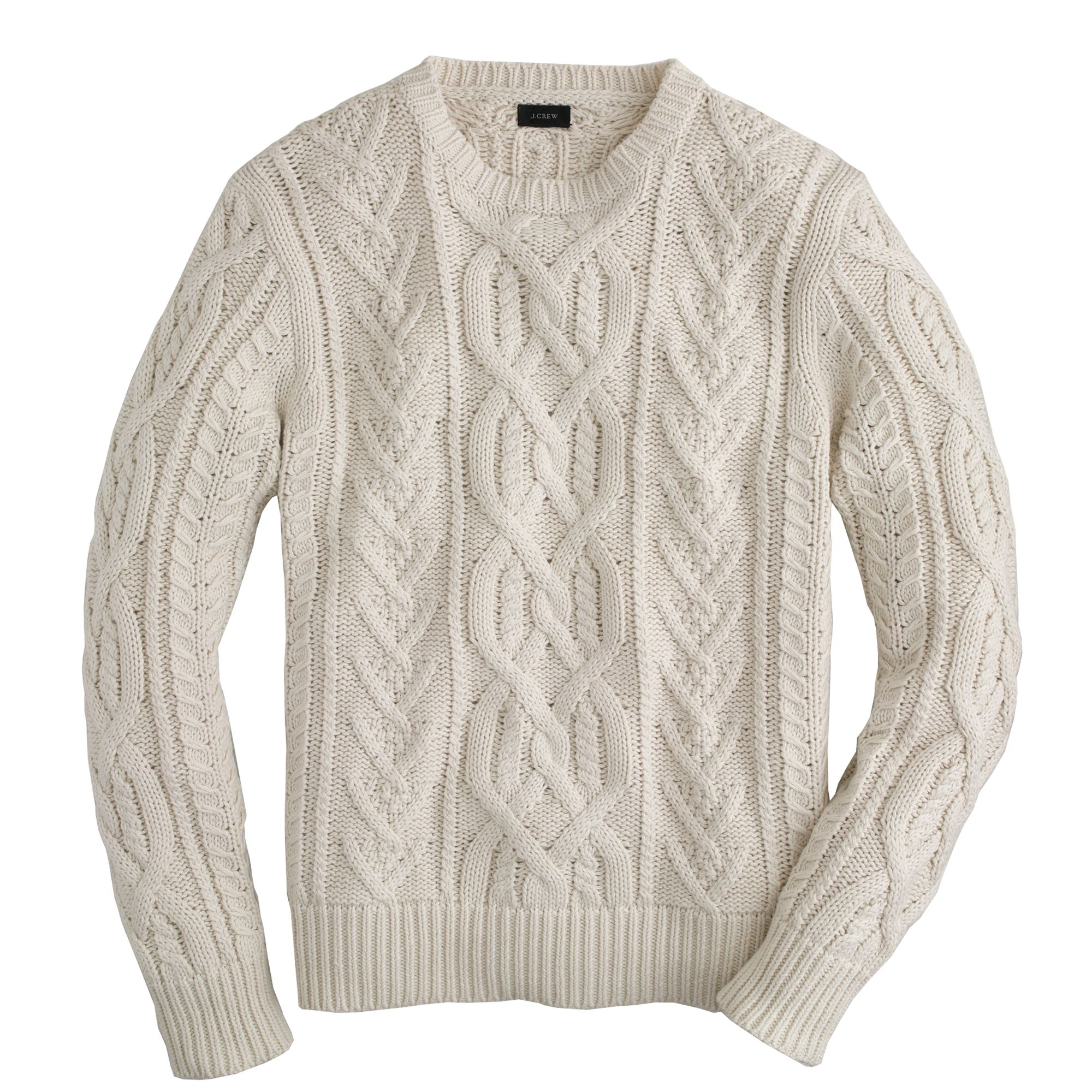 J.crew Cotton Sweater in White for Men | Lyst