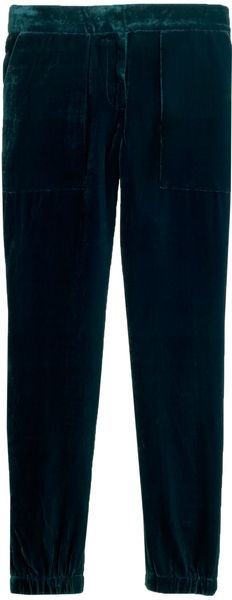 J.Crew Petite Collection Tailored Sweatpant in Velvet - Lyst