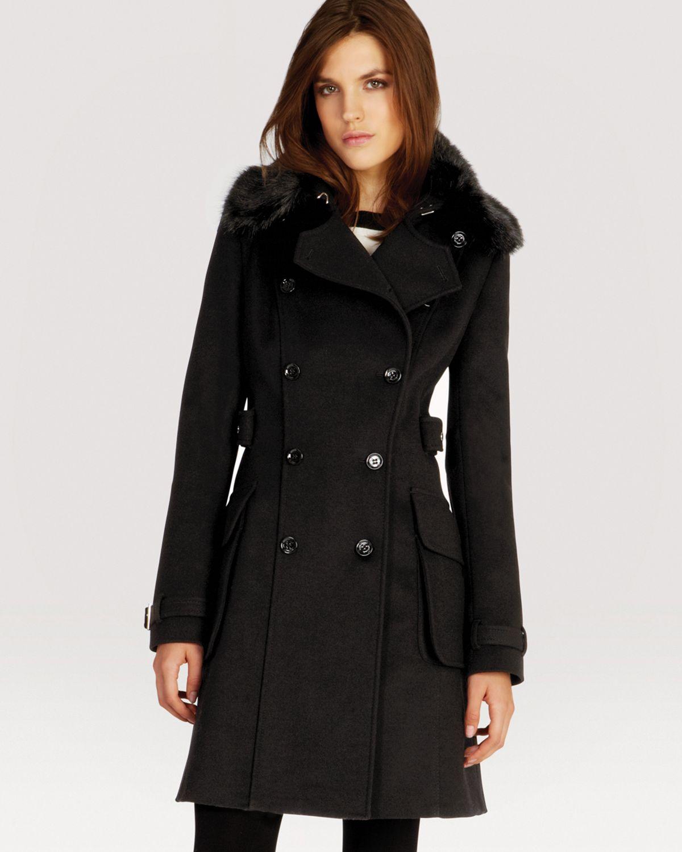 Karen Millen Signature Investment Coat In Black Lyst