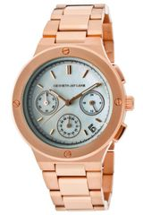 Kenneth Jay Lane Womens Series Chronograph White Mop Dial Rose Gold Tone Ip Stainless Steel Kjlanesd Watch - Lyst