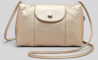 Longchamp Crossbody Le Pliage Cuir Small Metallic - Lyst