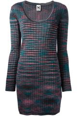 M Missoni Knitted Sweater Dress - Lyst