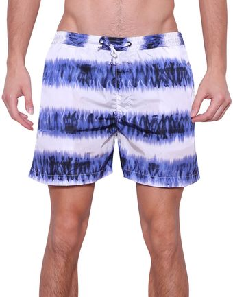 MSGM Tiedye Swim Trunks - Lyst