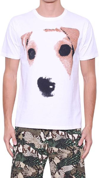 MSGM Printed Cotton Tshirt - Lyst