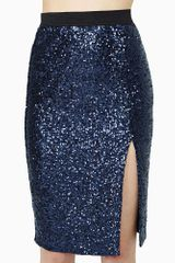 Nasty Gal Moonlit Night Sequin Skirt - Lyst