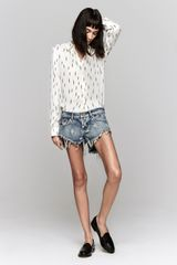 One Teaspoon Denim Shorts - Lyst