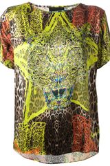Philipp Plein Mixed Print T-shirt - Lyst