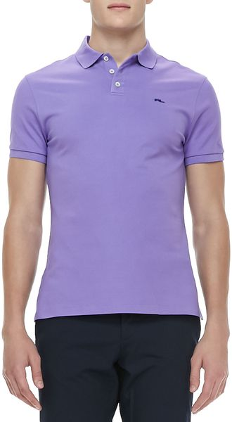 Ralph Lauren Black Label Rl Shortsleeve Mesh Polo Light Purple - Lyst