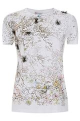 RED Valentino Illustrated Bow Tshirt - Lyst
