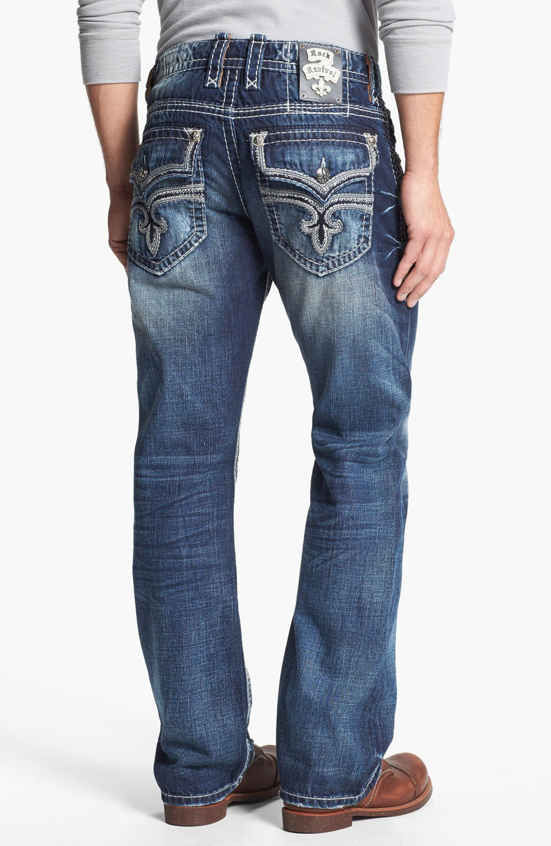 Rock Revival Eldon Bootcut Jeans In Blue For Men | Lyst