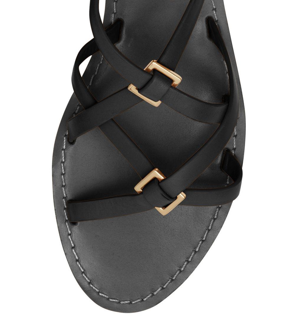 1062366abc6393 Lyst - Tory Burch Lucas Flat Sandal in Black
