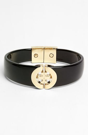 Tory Burch Logo Hinged Bangle - Lyst