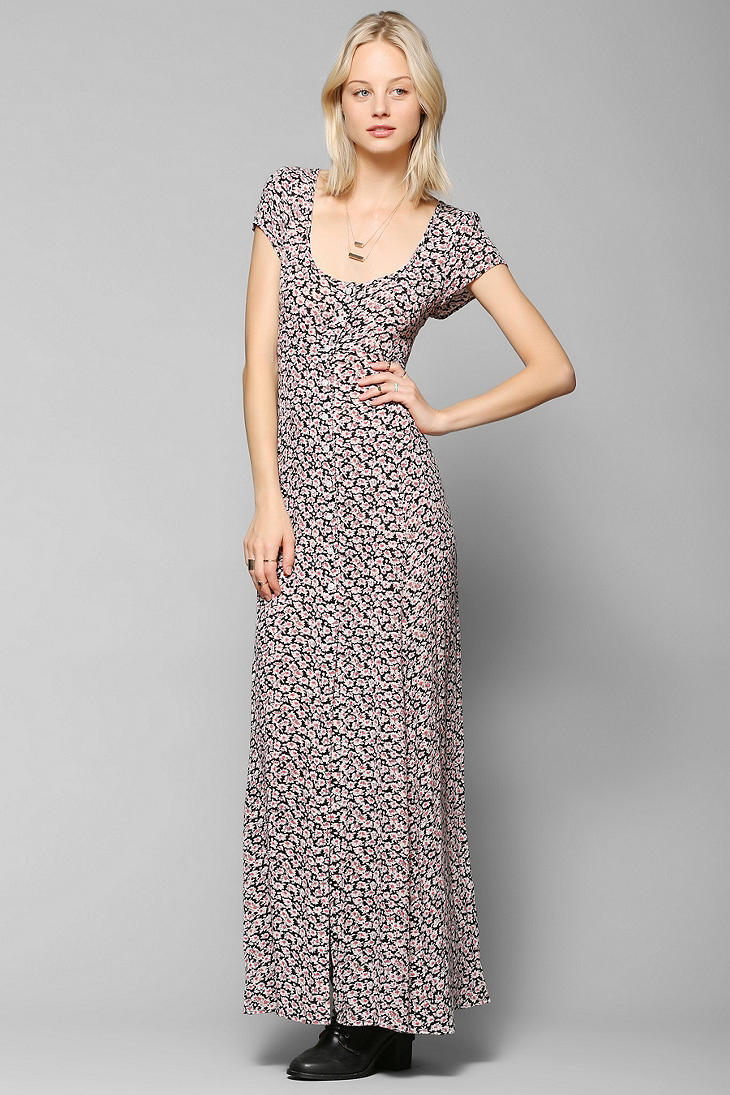 Lyst urban outfitters kimchi blue georgina button down maxi dress - Avis urban dressing ...