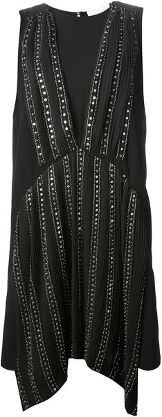 Vanessa Bruno Sleeveless Embellished Dress - Lyst
