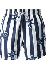 Vilebrequin Striped Swimming Trunks - Lyst
