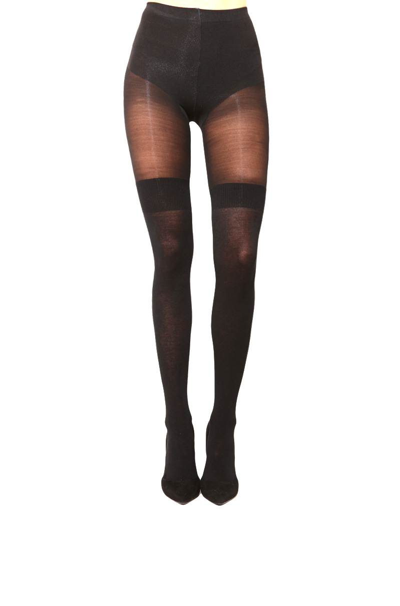 a26aecd7b4513 AKIRA Pretty Polly Secret Sock Tights in Black - Lyst