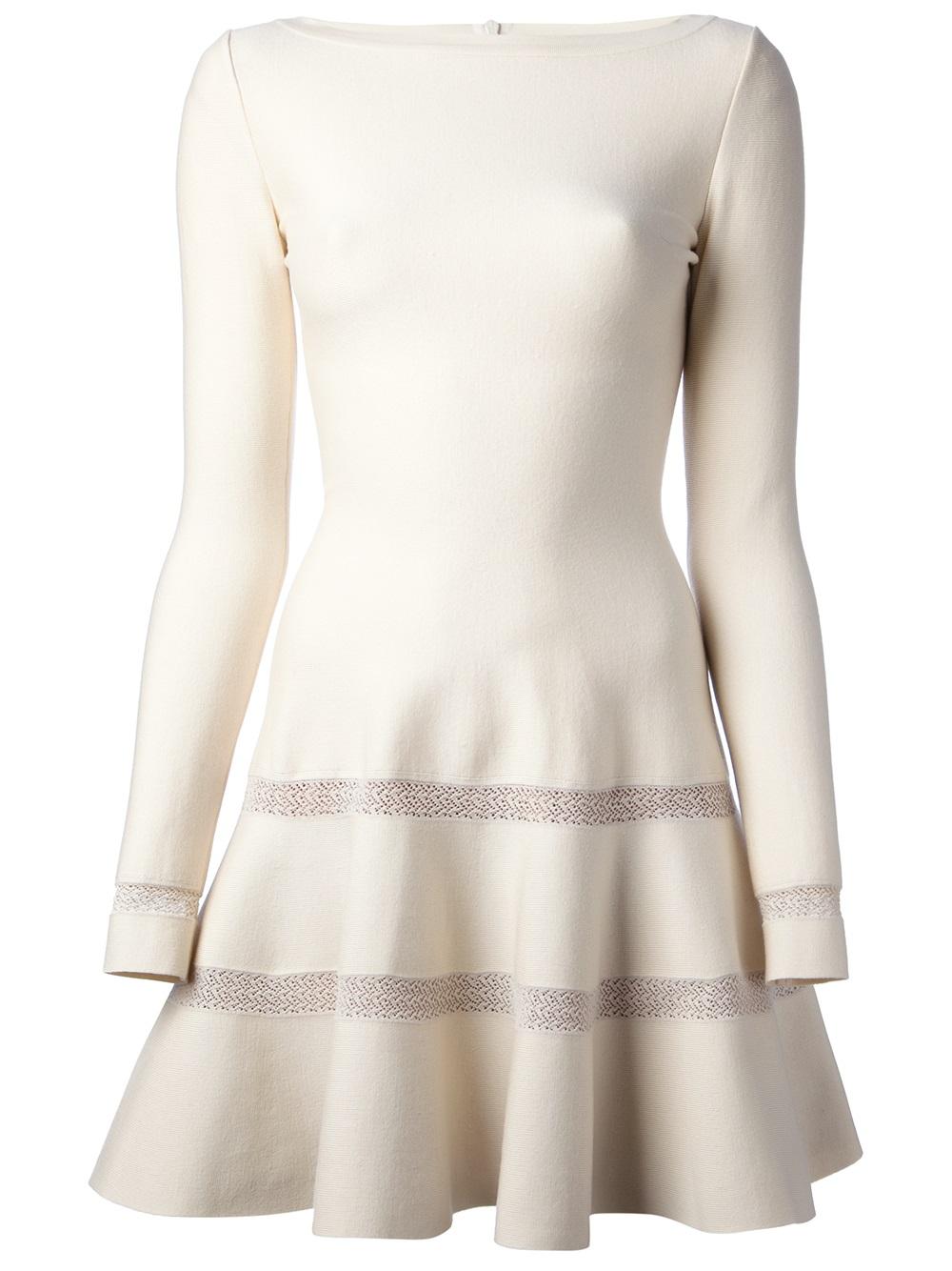 Ala 239 A Flared Dress In White Lyst