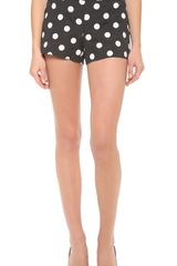 Alice + Olivia Alice Olivia Back Zip Polka Dot Shorts - Lyst