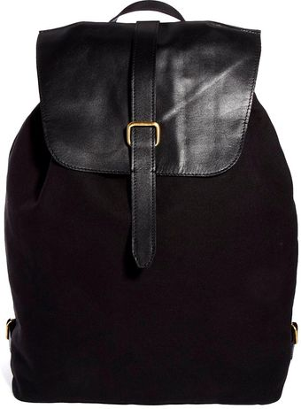 Asos Backpack with Leather Top - Lyst