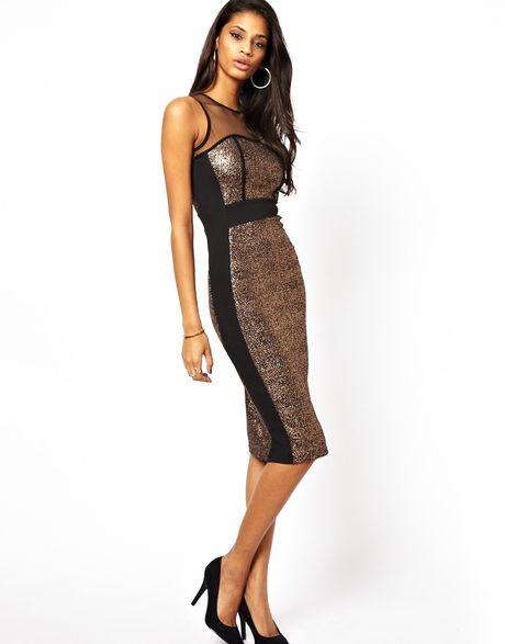 Look Metallic Midi Dress