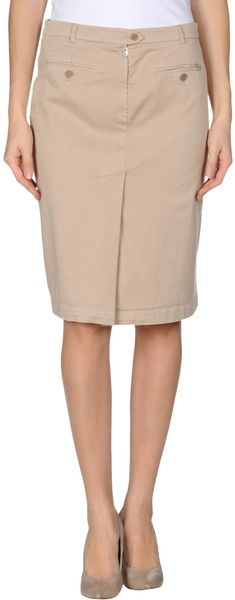Aspesi Knee Length Skirt - Lyst