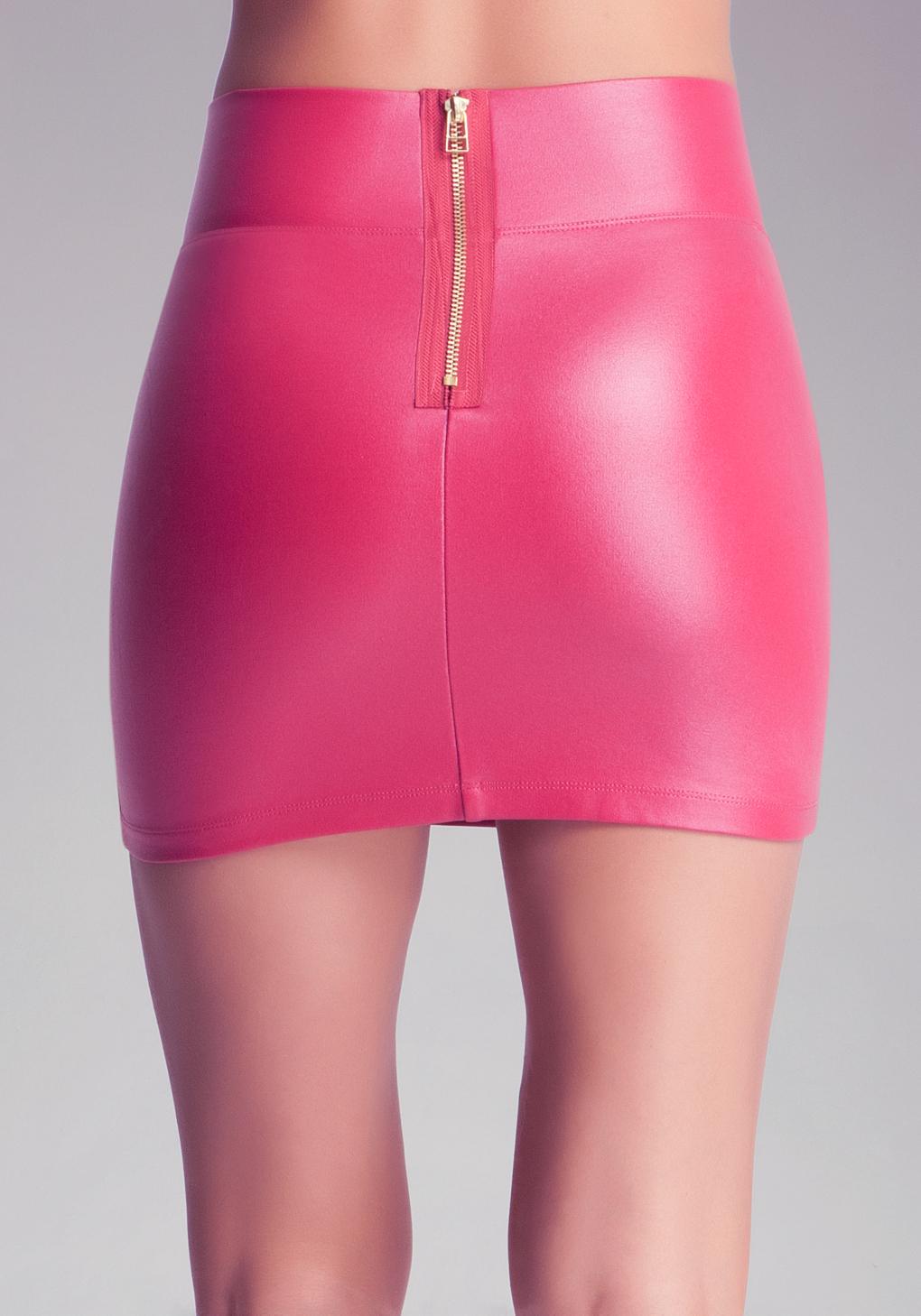 Bebe High Waist Mini Skirt in Pink | Lyst
